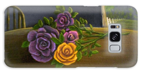 Country Roses Galaxy Case by Sheri Keith