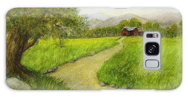 Country Scene - Barn In The Distance Galaxy Case