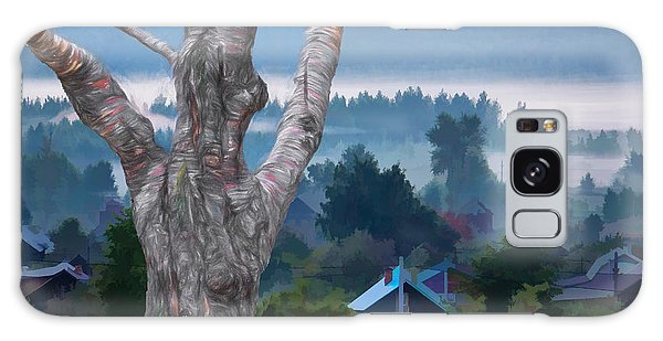 Country Side Morning Mist Galaxy Case
