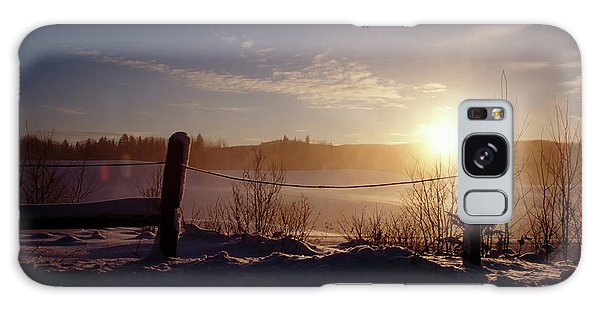 Country Winter Sunset Galaxy Case