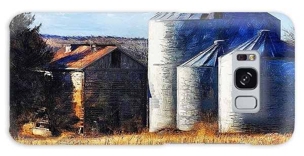 Countryside Old Barn And Silos Galaxy Case