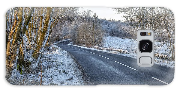 Countryside Road In Central Scotland Galaxy Case