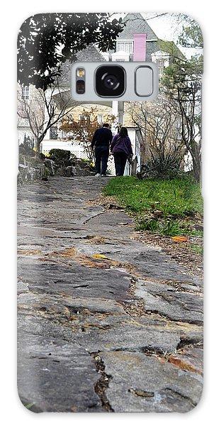 Couple On A Garden Path Galaxy Case