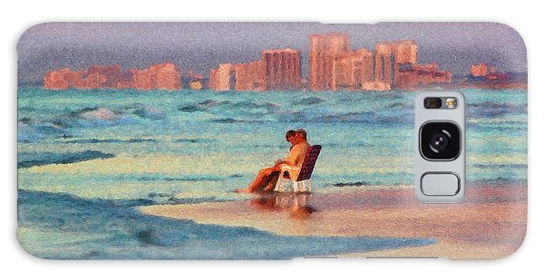 Couple Watching The Sunset Galaxy Case