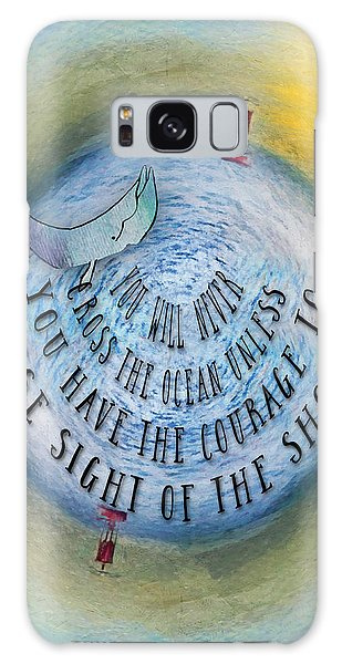 Courage To Lose Sight Of The Shore Mini Ocean Planet World Galaxy Case