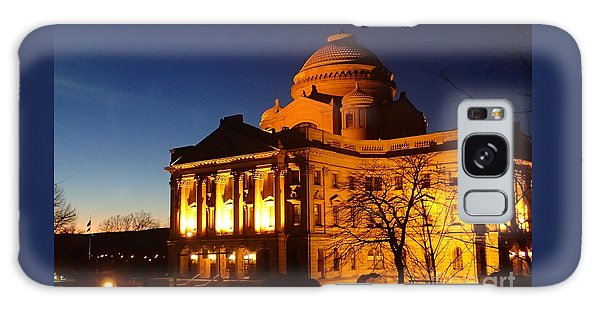 Courthouse At Night Galaxy Case by Christina Verdgeline