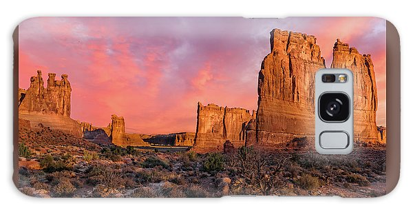 Galaxy Case featuring the photograph Courthouse Towers And Three Gossips by Expressive Landscapes Fine Art Photography by Thom