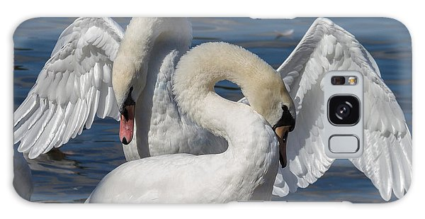 Galaxy Case - Courting Mute Swans by Iordanis Pallikaras