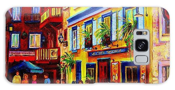 Courtyard Cafes Galaxy Case by Carole Spandau