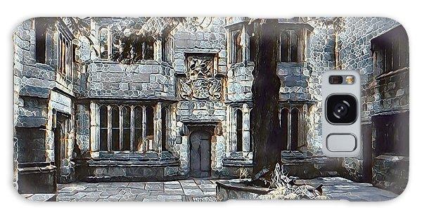 Galaxy Case featuring the digital art Courtyard Of Skipton Castle by Pennie McCracken