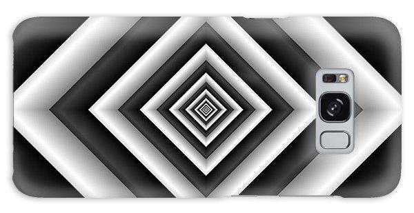 Covariance  6 Modern Geometric Black White Galaxy Case