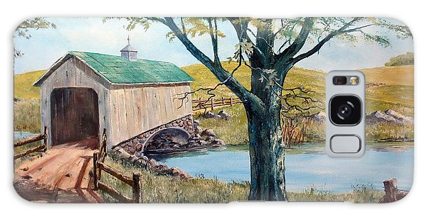Covered Bridge, Americana, Folk Art Galaxy Case