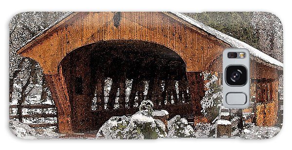 Covered Bridge At Olmsted Falls-winter-2 Galaxy Case
