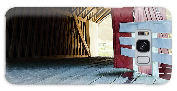 Covered Bridge, Winterset, Iowa Galaxy Case by Wilma Birdwell