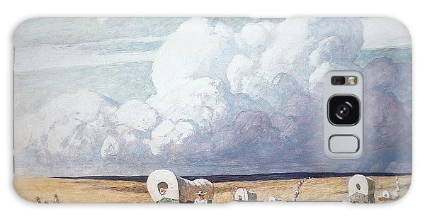 Storming Galaxy Case - Covered Wagons Heading West by Newell Convers Wyeth