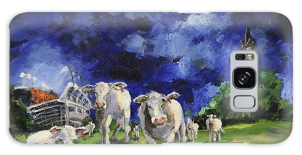 Cow College Auburn University Galaxy Case by Carole Foret