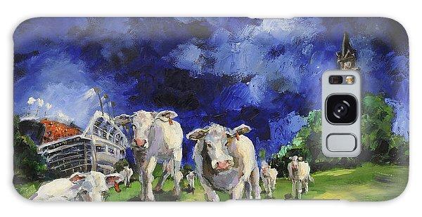 Cow College Auburn University Galaxy Case by Carole Foret