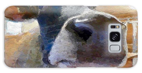 Cow Face Close Up Galaxy Case