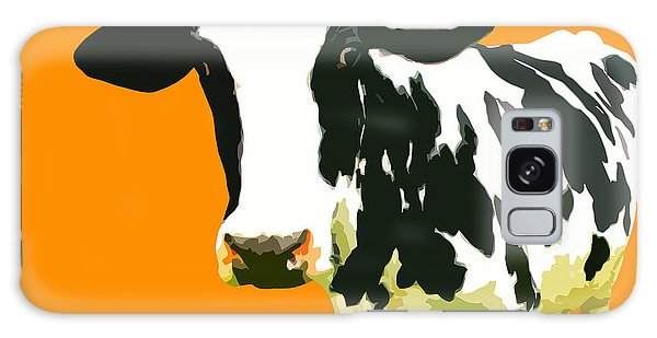 Cow Galaxy Case - Cow In Orange World by Peter Oconor