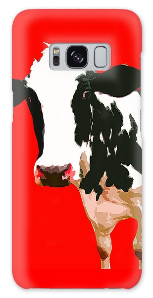 Cow In Red World Galaxy Case