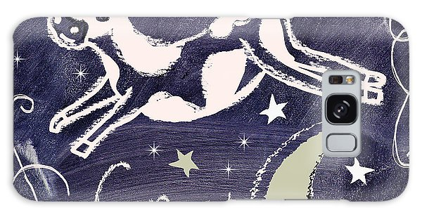Cow Galaxy Case - Cow Jumped Over The Moon Chalkboard Art by Mindy Sommers