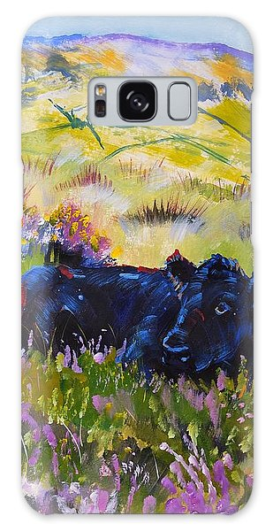 Cow Lying Down Among Plants Galaxy Case