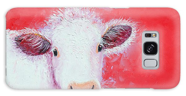 Cow Painting - Charolais Galaxy Case