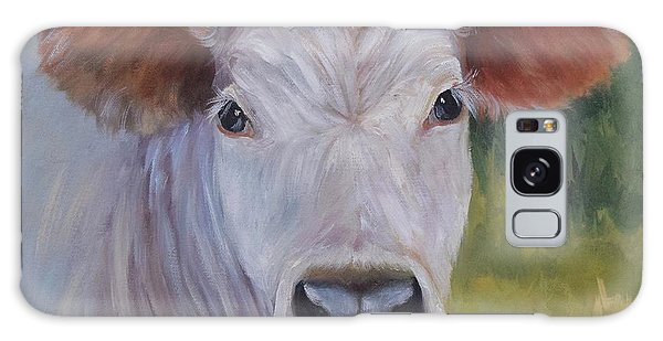 Cow Painting Ms Ivory Galaxy Case