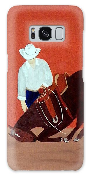 Cowboy And His Horse Galaxy Case