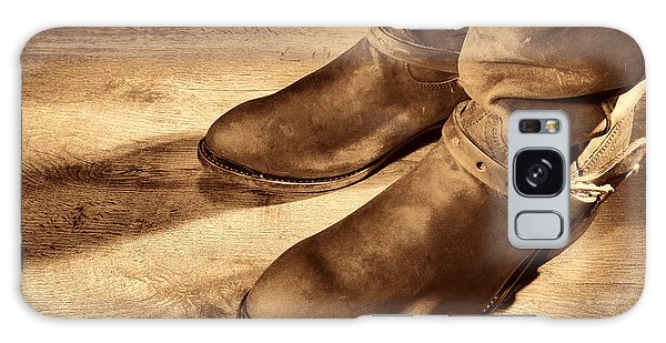 Cowboy Boots On Saloon Floor Galaxy Case