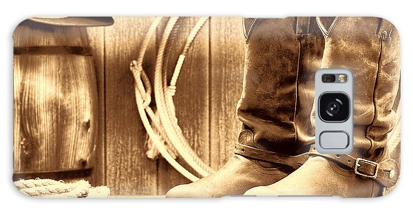 Cowboy Boots On The Deck Galaxy Case