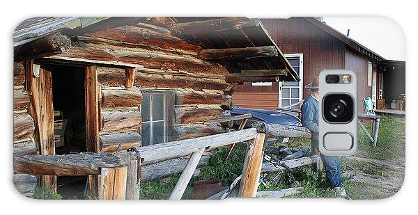 Cowboy Cabin Galaxy Case