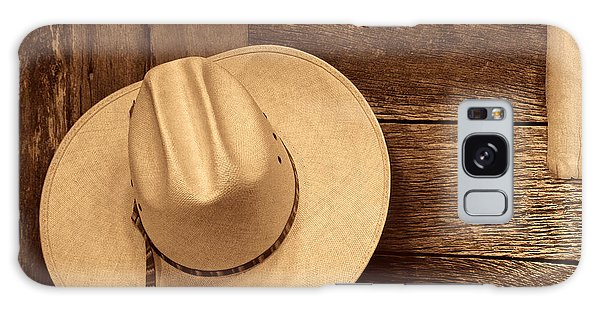 Cowboy Hat In Town Galaxy Case