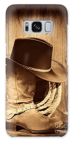 Cowboy Hat On Boots Galaxy Case by American West Legend By Olivier Le Queinec