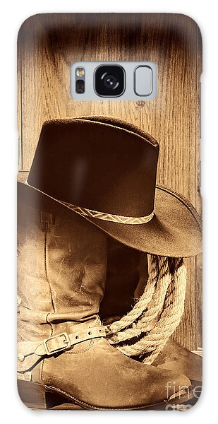 Cowboy Hat On Boots Galaxy Case