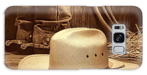 Cowboy Hat With Western Boots Galaxy Case