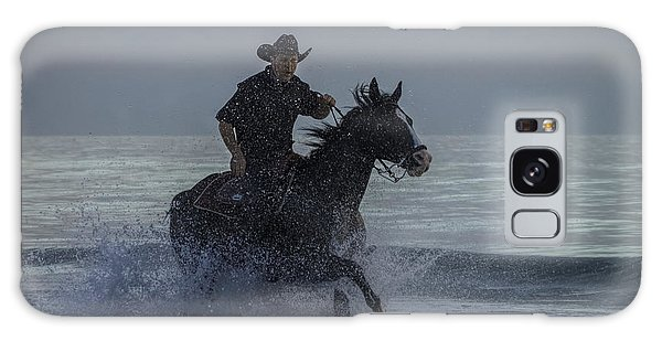 Cowboy Riding In The Surf Galaxy Case