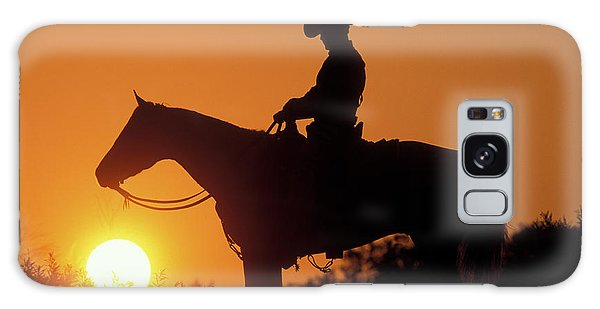 Galaxy Case - Cowboy Sunset Silhouette by Shawn Hamilton