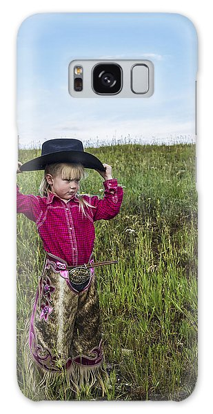 Cowgirl Chick 2 Galaxy Case