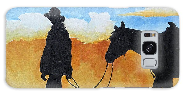 Cowgirl Sunset Galaxy Case