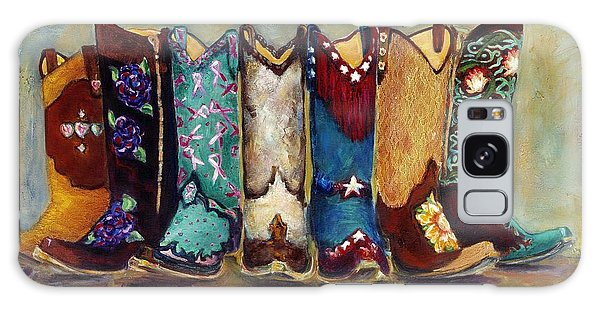 Cowgirls Kickin The Blues Galaxy Case by Frances Marino
