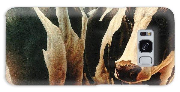 Cows 1 Galaxy Case by Hans Droog