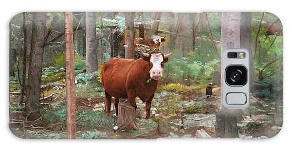 Cows In The Woods Galaxy Case