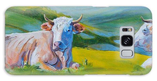 Cows Lying Down In Devon Hills Galaxy Case