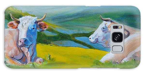 Cows Lying Down In Devon Hills Galaxy Case