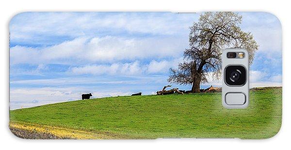 Cows On A Spring Hill Galaxy Case by James Eddy