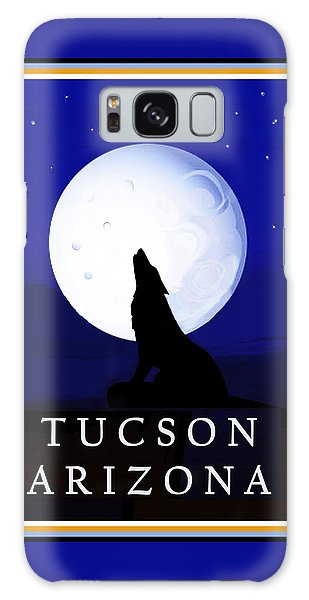 Galaxy Case featuring the digital art Coyote Moon - Tucson, Arizona by Vagabond Folk Art - Virginia Vivier