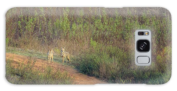 Coyotes In Morning Light Galaxy Case