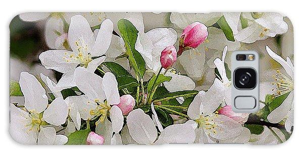 Crabapple Blossoms 5 Galaxy Case