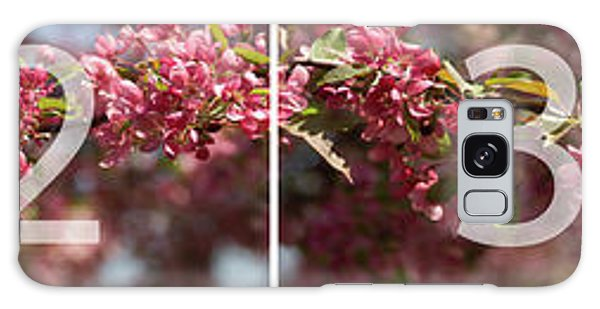 Crabapple In Spring Panoramic Map Galaxy Case